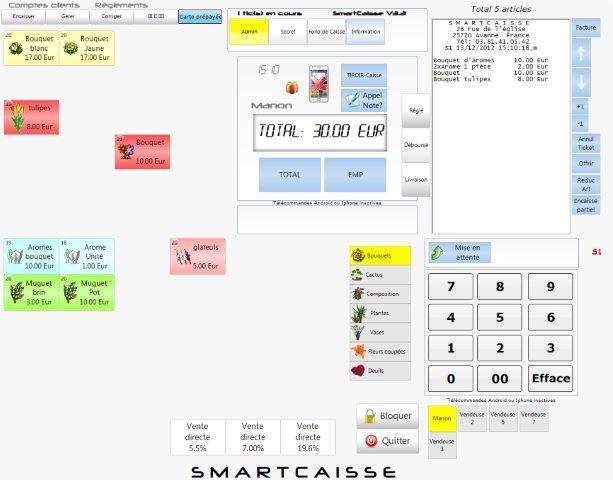 Smartcaisse caisse enregistreuse coiffeur logiciel for Caisse salon de coiffure